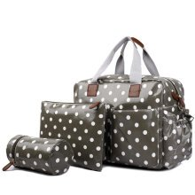 Miss Lulu 4pcs Polka Dots Baby Nappy Diaper Changing Bag Set
