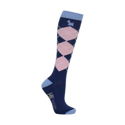 HyFASHION Adults Isabella Dog Print Socks (Pack of 3 Pairs)