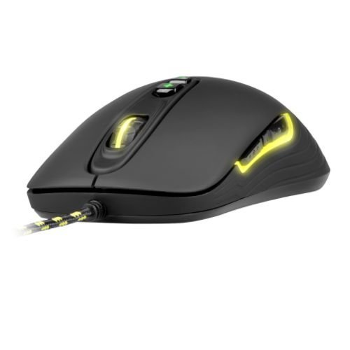 Xtrfy M2 Wired Optical Gaming Mouse, USB, 4000 DPI, Omron Switches, Ambidextrous, 5 Buttons, LED, Black