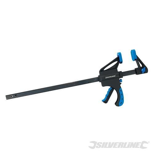 Silverline 450mm Heavy Duty Quick Clamp -  clamp quick heavy duty silverline 450mm 633458