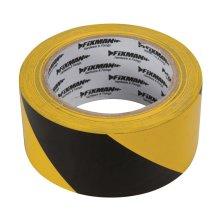 Fixman Hazard Tape 50mm x 33m Black/yellow - Hazard Tape 50mm 33m Blackyellow -  hazard tape fixman 50mm 33m blackyellow 190195 yellowblack