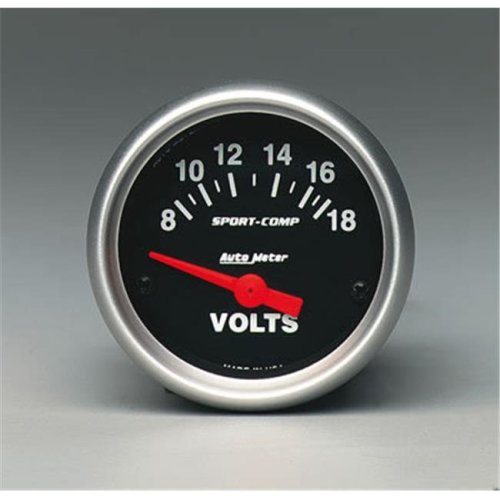 AUTO METER 3391 2.06 In. Mini Sport-Comp Voltmeter