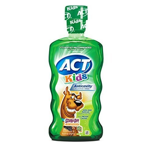 ACT Kids AntCavity Mouthwash Scooby Doo Kiwi Watermelon 169 Ounce by ACT
