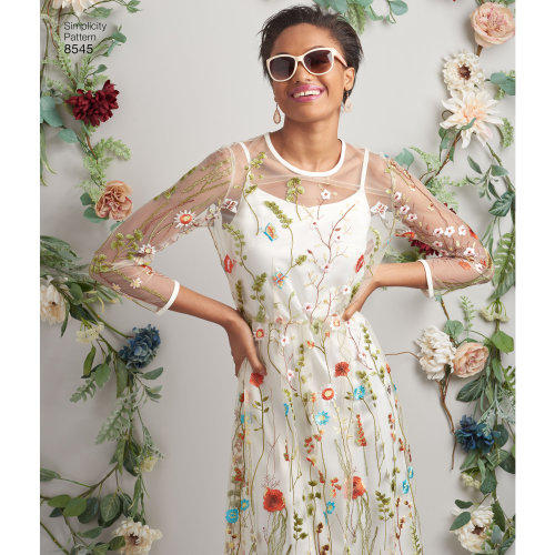 Simplicity Misses' & Miss Petite Slip Dress Or Camisole-4-6-8-10-12