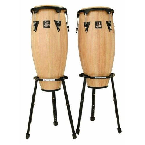 Latin Percussion LPA646B-AW Aspire 0.90 Conga Set, Natural Basket Standard