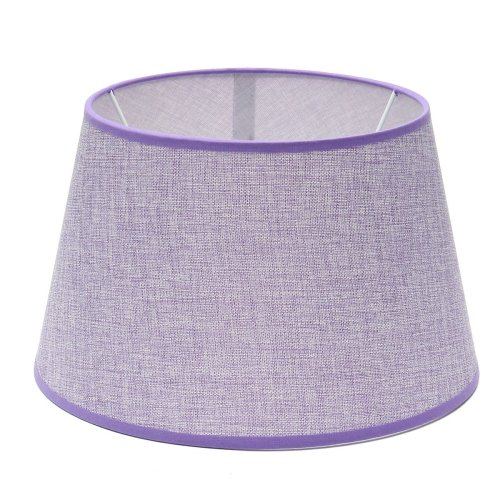 (Purple) 265x355x215MM Cotton Textured Fabric PVC Linen Shade Desk Ceiling Lampshade