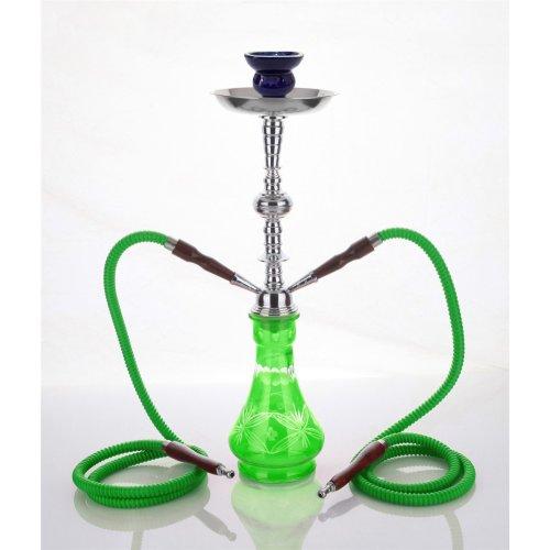 medium green 2 hose hookah