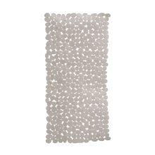 Pebble Design Rectangular PVC Bath Mat, Grey