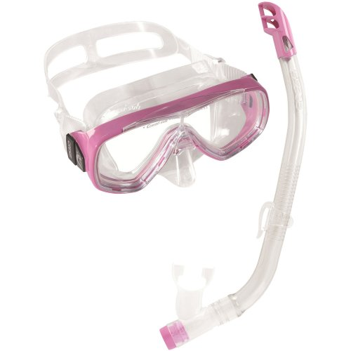 Cressi Ondina VIP SIL Junior Snorkeling Combo, Pink
