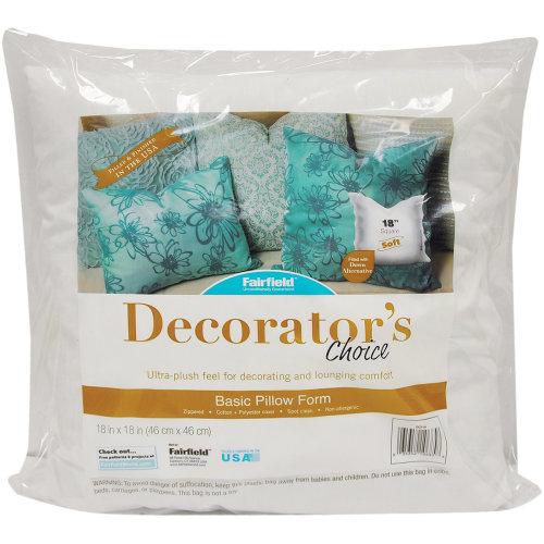 """Fairfield Decorator's Choice Luxury Pillow Form-18""""X18"""" FOB: MI"""