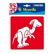 Pbx2470640 - Playbox - Stencils (dinosaurs) - 145 X 145 Mm - 6 Pcs