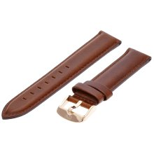 Daniel Wellington St Mawes Rose Women's Brown Leather Buckle Watch Strap
