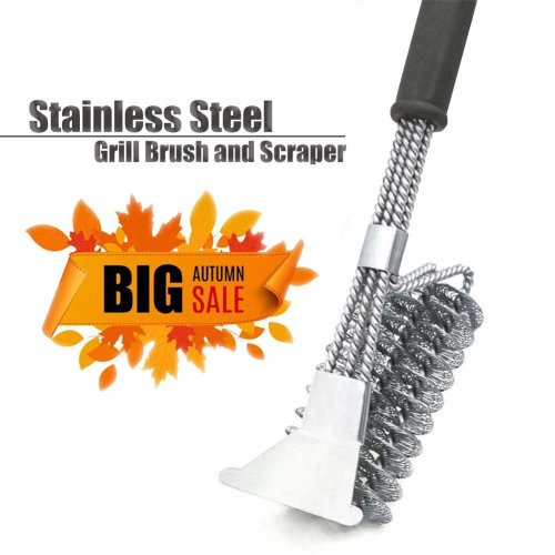 EOYIZW Grill Brush BBQ Accessories, Stainless Steel Heavy Duty Barbecue Cleaning Tools