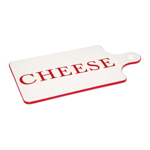 Hollywood Paddle Cheese Board - Red & Cream
