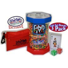 """Find It Games Exclusive """"Matty's Toy Stop"""" Toy & Travel Edition, Traveler Card & Dice and Cinch Storage Bag Gift Set Travel Bundle - 3 Pack"""