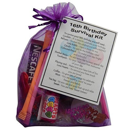 16th Birthday Gift - Novelty Survival Kit for a 'Sweet Sixteen' Birthday