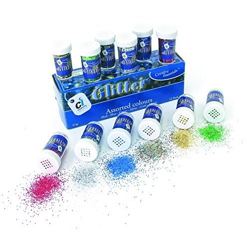acon 91356 S ectra glitter 6 color assortment 34 oz shaker to jars 12 er ack