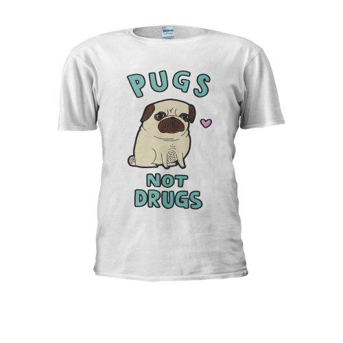 Pugs Not Drugs Dog Funny Novelty Men Women Unisex Top T Shirt