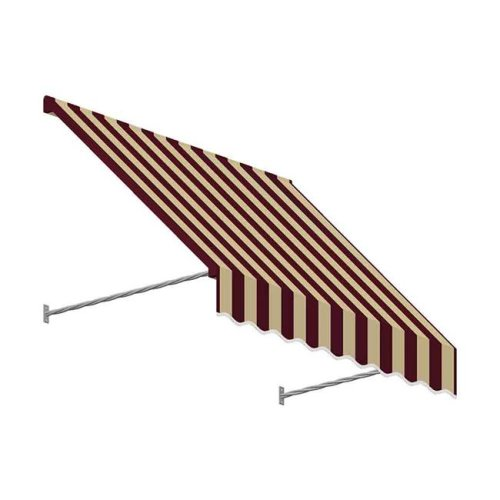 Awntech SANT33-US-4BT 4.38 ft. Santa Fe Twisted Rope Arm Window & Entry Awning, Burgundy & Tan - 44 x 36 in.
