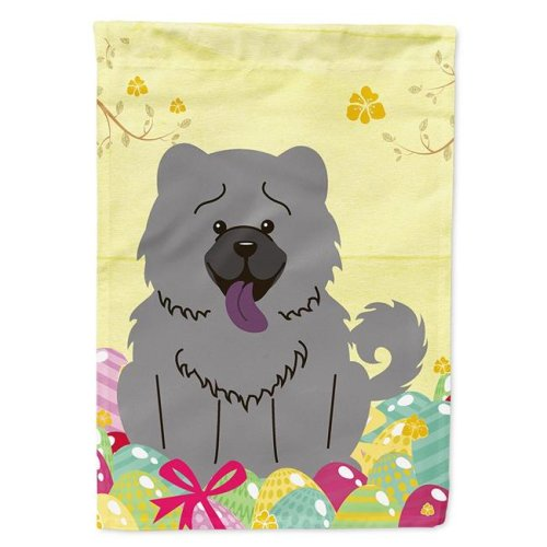 Carolines Treasures BB6139CHF Easter Eggs Chow Chow Blue Flag Canvas House Size
