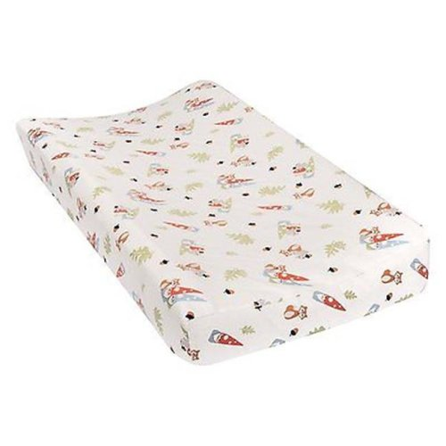 TrendLab 101383 Forest Gnomes Deluxe Flannel Changing Pad Cover