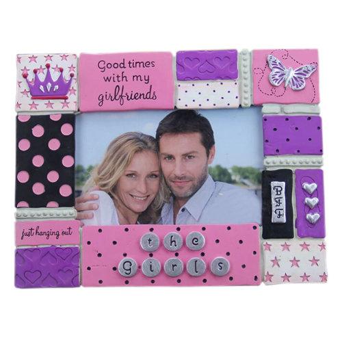 "Creative Romantic Table-top Picture Frames Elegant Resin Photo Frames 9*6.8"""