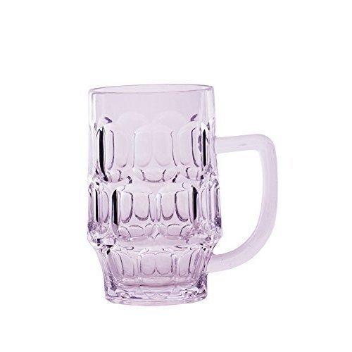 Epicurean 680ml 1-piece Acrylic Dimple Beer Mug, Clear - Tankard Mug Glass Pint -  epicurean beer tankard dimple mug glass pint single acrylic
