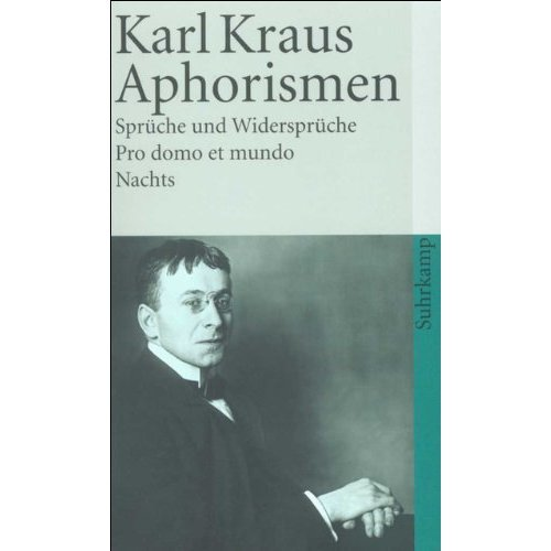 Aphorismen: Spruche Und Widerspruche. Pro Domo Et Mundo. Nachts.