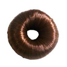 Set of 2 Fake Hair Buns, Hair Donut, Easy to Wear [Brown]