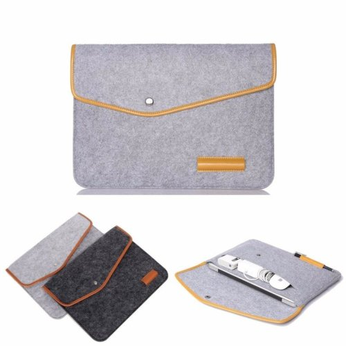12 Inch Wool Leather laptop Sleeve Bag For Laptop Tablet Macbook 12''