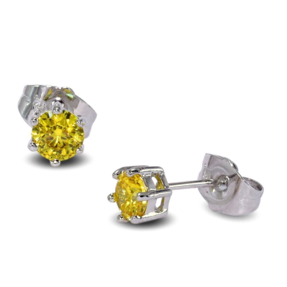 5f551e94a69f1 Blue Diamond Club - 9ct White Gold Filled Daffodil Yellow Stud ...