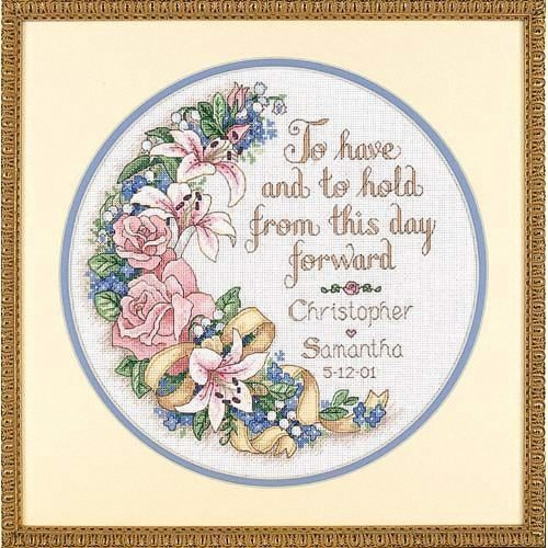 D03892 - Dimensions Counted X Stitch - Wed/rec: to Have & to Hold