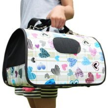 M Size Carry Bag Sweet Cute Pet Home Dog Cat Carrier House Travel---Love