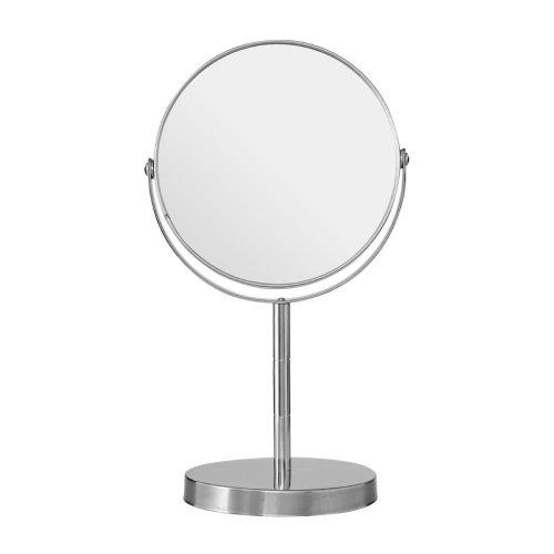 Adjustable Swivel Table Mirror, Stainless Steel