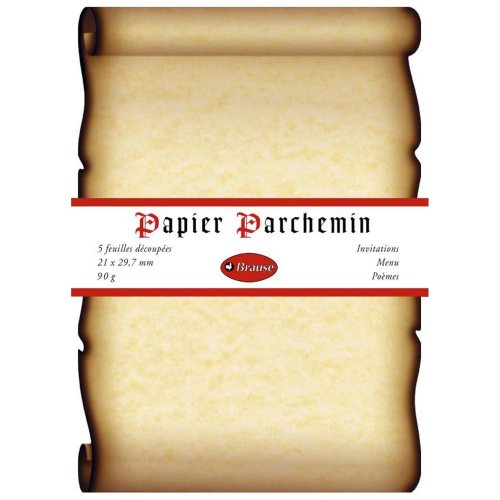 Brause A4 Parchment, 90 g, 5 Sheets