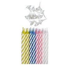24  Assorted Candles with Holders - /24