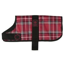 Animate Dog Coat Waterproof Red Tartan, 16""