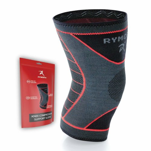 88a491bc66 Knee Support Sleeve for Men and Women (Concaved Version) (Single Wrap)  (Large) - Compression Brace for Ligament Injury, Joint Pain Relief,  Running,... on ...