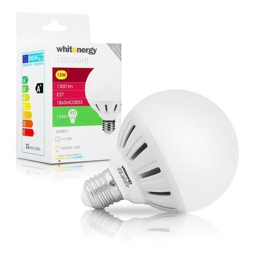 WHITENERGY LED Bulb 18x SMD 2835 LED G95 E27 15W 175-250V White Warm (10080)