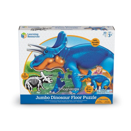 Learning Resources Jumbo Dinosaur Puzzle Triceratops