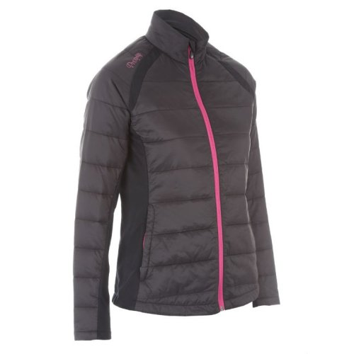 ProQuip Alexis Full Zip Ladies Therma Tour Quilted Jacket Black Small