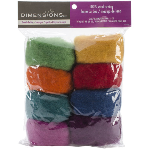 Dimensions Feltworks Roving Value Pack 2.8oz-Rainbow