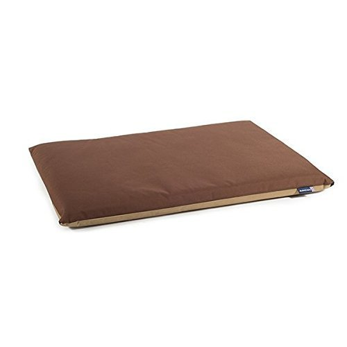 Ancol Waterproof Flat Pad Bed for Dog, 61 x 46 cm, Brown/Beige