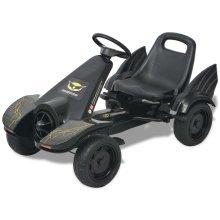 vidaXL Pedal Go Kart with Adjustable Seat Black