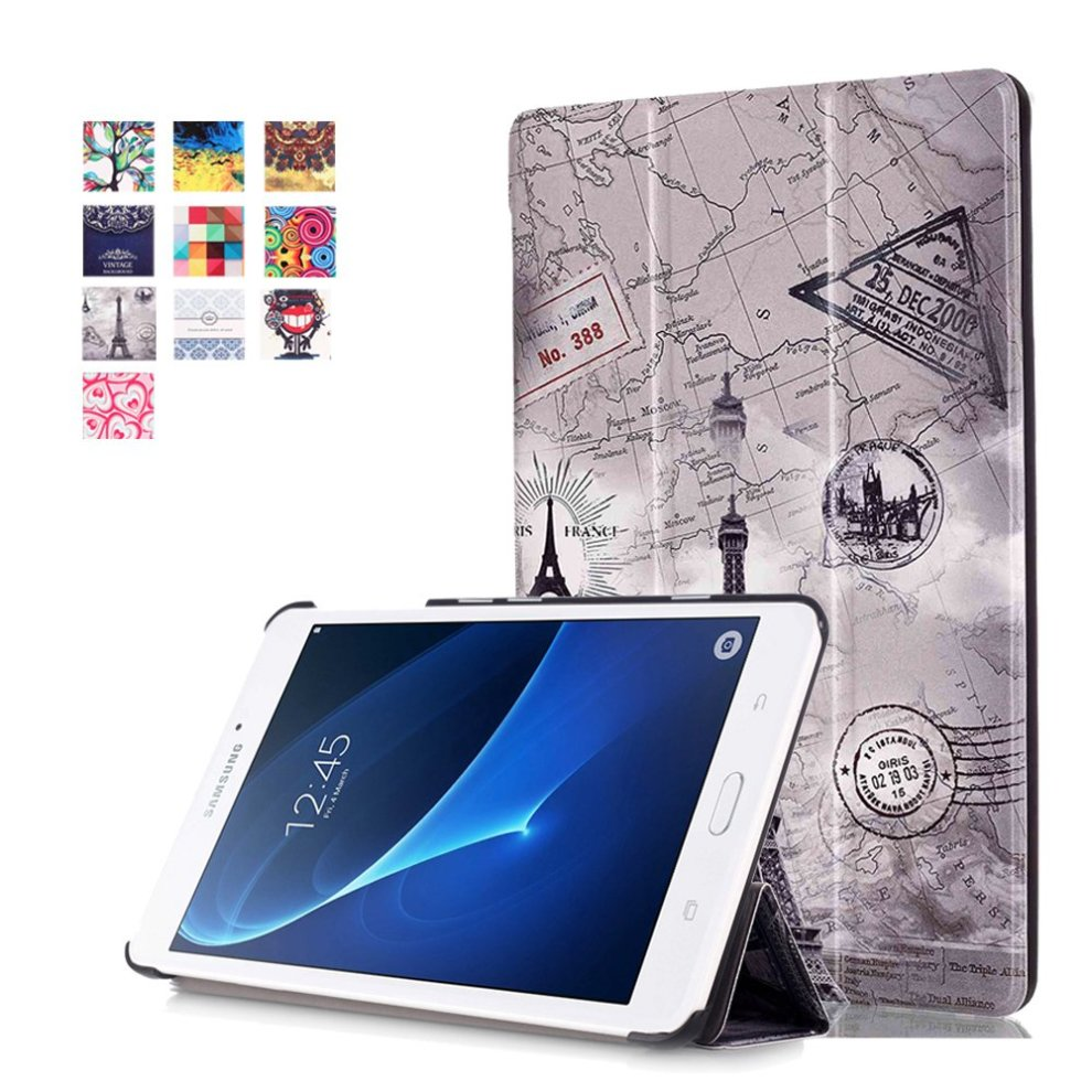 sports shoes 8fb28 28f2d Cover for Samsung Tab A6 7.0 ,Galaxy Tab A T280 Case - Slim PU Leather  Tri-Fold Stand Folding Cover Case for for Samsung Galaxy Tab A 7.0 Inch...