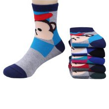 5 Pairs of Cozy kids Cotton Socks Children  Gifts Comfortable Socks,5-6years?monkey Random Color