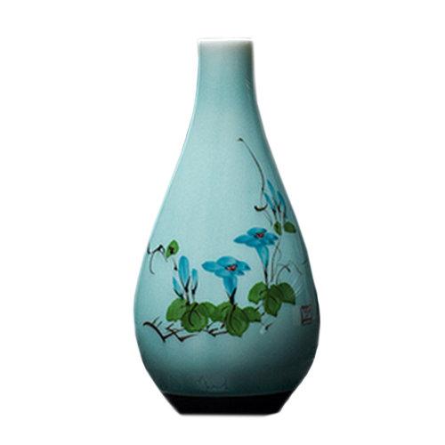 Creative Vase Hand-painted Chinese Vase Home/Office Decor Vase,Morning Glory
