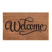 """Welcome"" Coir Doormat"
