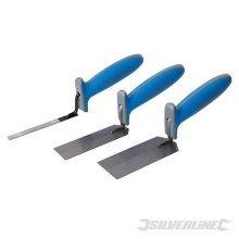 Silverline Margin Trowel Soft-grip Set 3pce 3pce - Softgrip 584174 -  3pce margin trowel softgrip set silverline 584174