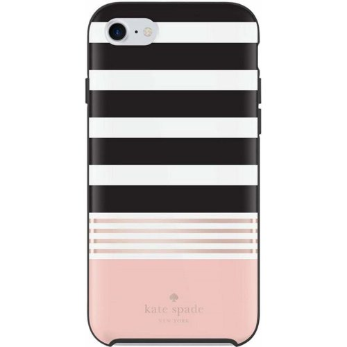 the best attitude 9619c 21437 Kate Spade New York Hardshell Case Cover for Apple iPhone 7/8 - black /  white / rose [glossy design   Golden logo   High quality materials] -...